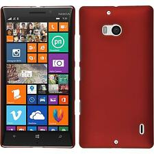 Funda Rígida Nokia Lumia 930 - goma rojo + protector de pantalla