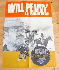 WILL PENNY LE SOLITAIRE Affiche cinéma 60x80 GRIES, CHARLTON HESTON, PLEASENCE