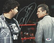 Mick Foley Signed WWE 8x10 Photo PSA/DNA COA Picture w/ Vince McMahon Autograph