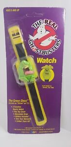 Rare Vintage 1989 The Real Ghostbusters Slimer Black Band Watch by Hope Mint