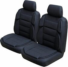 Sports Rider Universal Size Airbag Safe Padded Front Pair Car Seat Covers - Grey