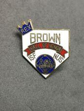 REX BROWN ASA softball Association enamel Pin Badge