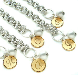 John Wind Bracelet Collector's Sorority Gal Silver Initial Maximal Art Jewelry