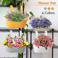 4 Colors Garden Flower Pot Hanging Pot Iron Hook Metal Plant Balcony Planter