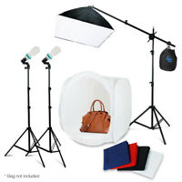 "Photo Studio 30"" Photography Light Tent Backdrop Kit 24"" Softbox Lighting Kit"