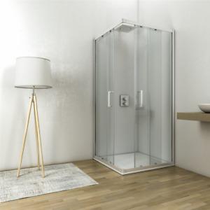 Box doccia angolare 75x75 h.195 profilo cromo cristallo temperato 6mm