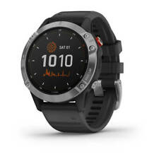 GARMIN FENIX 6 SOLAR,SILVER W/BLACK BAND,GPS WATCH,WW 010-02410-00