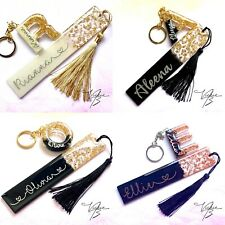 More details for handmade resin bookmark and keyring gift set • personalised • birthday gift •