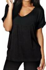 T-shirt, maglie e camicie da donna neri viscosi taglia XL