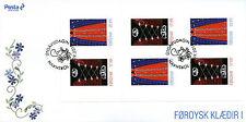 Isole Faroe FAR OER 2016 FDC Costumi Nazionali I 6v S/a Libretto Cover FRANCOBOLLI