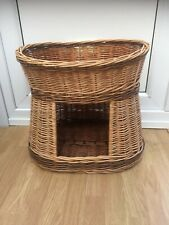 2 Tier Wicker Cat Bed Pet Pod Small Dogs Animal House Basket