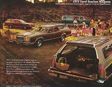 1977 Ford Pinto LTD LTD II Club Wagon Station Wagons Dealer Sales Brochure