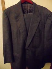 ERMENEGILDO ZEGNA Dark Gray Nailhead Pattern Super 100s Wool 44R Suit Italy