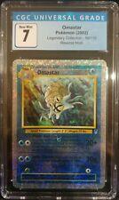 Omastar 58/110 Legendary Collection Reverse Holo CGC 7 Near Mint Pokemon TCG