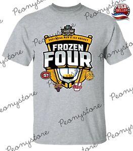 Men's 2021 Men's Hockey Tournament Frozen Four Black T-Shirt For Fan S-4XL