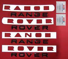 Negro Brillante Range Rover Sport Kit de actualización de letras Frontal + Trasera + Toallitas + plantilla