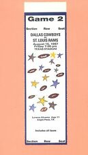St.Louis Rams at Dallas Cowboys 1997 ticket stub TOPPS NFL HOF Emmitt Smith