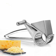 Hand Held Stainless Steel Classic Rotary Cheese Grater Chocolate Baking Kitchen