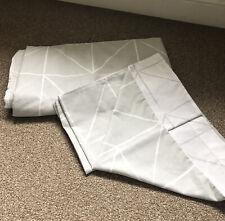 Wilko Reversible Double Size Grey Geometric Duvet Cover Set/ 2 Pillowcases