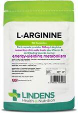 Lindens L-arginina 500mg 90 Cápsulas Argi L arginina Óxido Nítrico