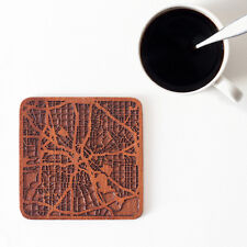 Dallas map coaster One piece  wooden coaster Multiple city IDEAL GIFTS