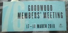 OFFICIAL 2018 GOODWOOD 76th MEMBERS MEETING STICKER DECAL NEW AND UNPEELED