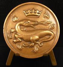 Médaille Ville du Havre Salamandre et feu salamander animal Dragon Monlon Medal