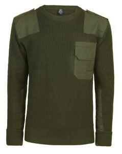 Brandit Herren Bundeswehr Pullover Import 5018 1 oliv grün