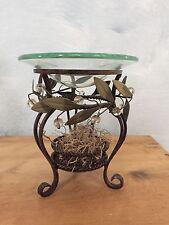 PartyLite Garden Lites Metal & Glass Pillar Candle Holder Wedding Decor Aroma
