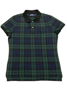 Ladies Polo Ralph Lauren Tartan Plaid Print T-Shirt Size Large, RRP £120