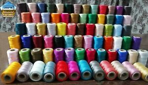 75 Spools Of Machine Silk Embroidery Threads For BROTHER ,JANOME And Many More