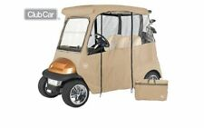 Custom Drivable 2 Person Golf Cart Enclosure Cover for Club Cars - Sand Tan