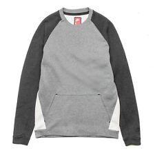 BNWT Size XL Men's Nike Tech Fleece Plain Crew Top Jumper 805140-092 Carbon