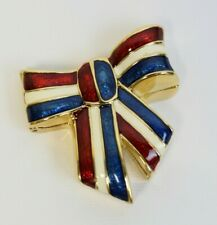 New listing Estee Lauder 2003 Solid Perfume Compact Glorious Bow Patriotic Mibb Beautiful
