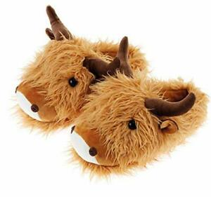 Aroma Home Fuzzy Friends Slippers Limited Edition - Highland Cow