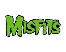 OFFICIAL LICENSED - MISFITS - GREEN LOGO IRON ON / SEW ON PATCH PUNK