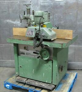 Wadkin Bursgreen BER 4 Spindle Moulder Wood Shaper W Holzher ET-117 PowerFeeder