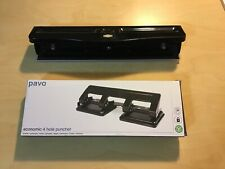 Pavo 4-Hole Punch 20 sheets (As New) & Marbig 3-Hole Adjustable Punch 10 Sheet