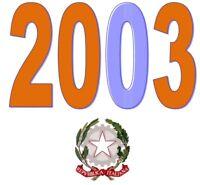 ITALIA Repubblica 2003 Singolo Annata Completa integri MNH ** Tutte le emissioni
