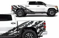 Vinyl Graphics Decal Shred Wrap Kit for Toyota Tundra CrewMax 14-20 Matte Black