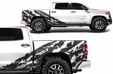 Vinyl Graphics Decal Shred Wrap Kit for Toyota Tundra CrewMax 14-17 Matte Black