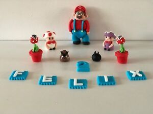 Super Mario unofficial personalised cake topper birthday decoration handmade