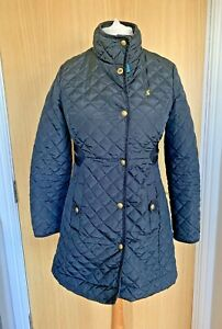 Joules Ladies Coat 10 Jacket Padded Quilted Long Winter Casual Smart Fairhurst