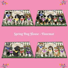 Spring Dog House Floormat, Dogs, Cats, Pet Photo lovers gift doormat home decor