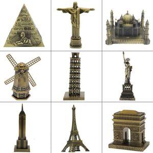 World Famous Landmarks Statue Sculpture Home Office Decor Stachu Famous Statues