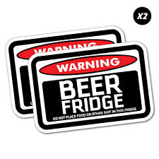2X Warning Beer Fridge Sticker Funny Car Stickers Novelty Decals #5925E