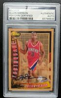 1996 TOPPS YOUTHQUAKE #YQ1 ALLEN IVERSON ROOKIE CARD RC SIXERS HOF AUTOGRAPH PSA