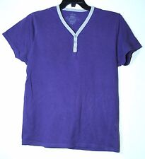 PURPLE GENTS CASUAL TOP SIZE MEDIUM BURTON COTTON