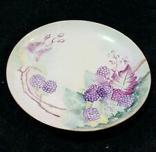 "7 1/2"" Haviland Plate - France (Hand Painted?) Blackberries"