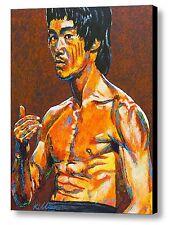 Bruce Lee ~ Hand Embellished Canvas Art Print